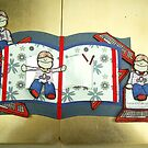 Using a red, white and blue, British feel for my craftsuprint download decoupage sheet by anaisnais
