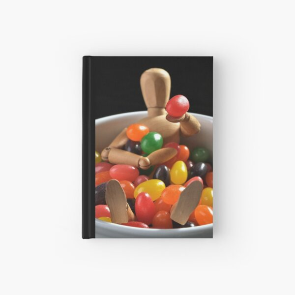 Woodman in a jelly bean bowl Hardcover Journal