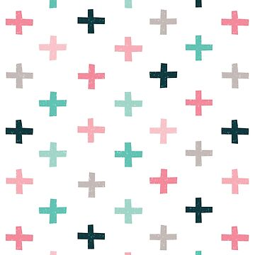 Swiss Crosses - Blush and Mint by daisy-beatrice