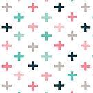 Schweizer Kreuze - Blush und Minze von daisy-beatrice
