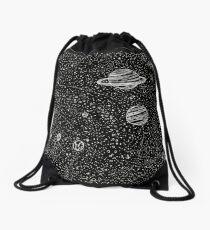 Black Space Drawstring Bag