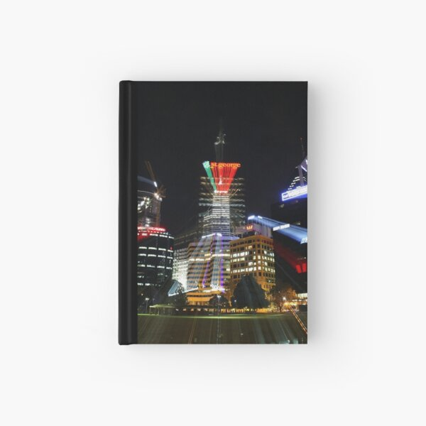 Perth City at Night Hardcover Journal
