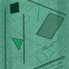 Shapes in Green Color by Annette Marionneaux Stevenson