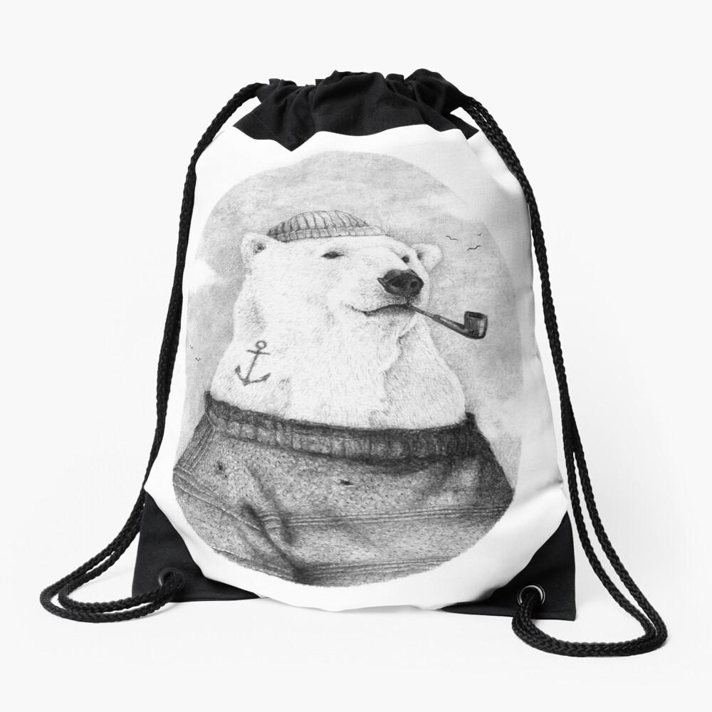 Onto the Shore Drawstring Bag