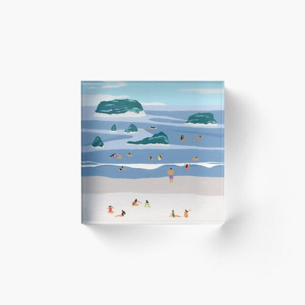 Island horizons Acrylic Block