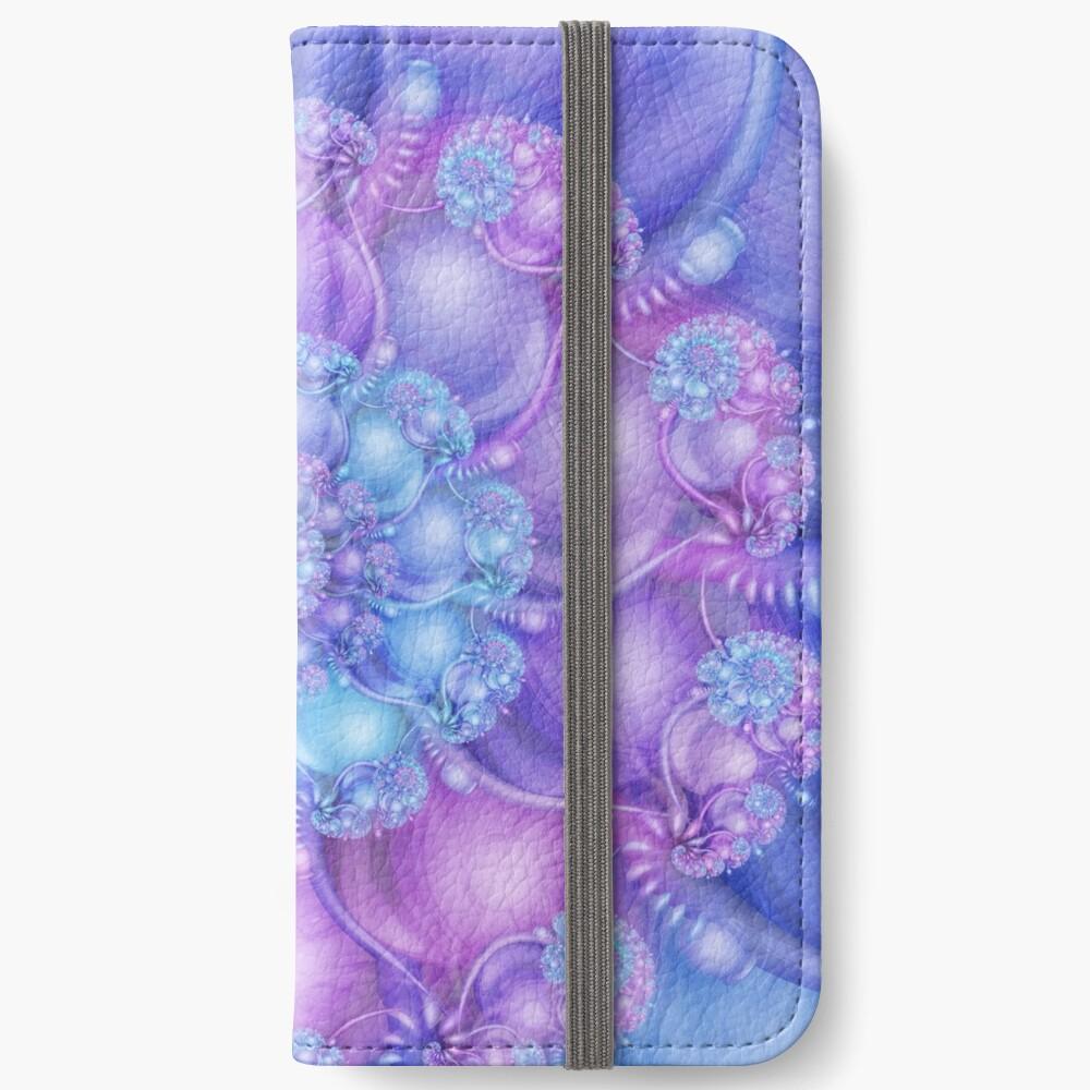 Cerulean Blue and Violet Purple Spiral iPhone Wallet