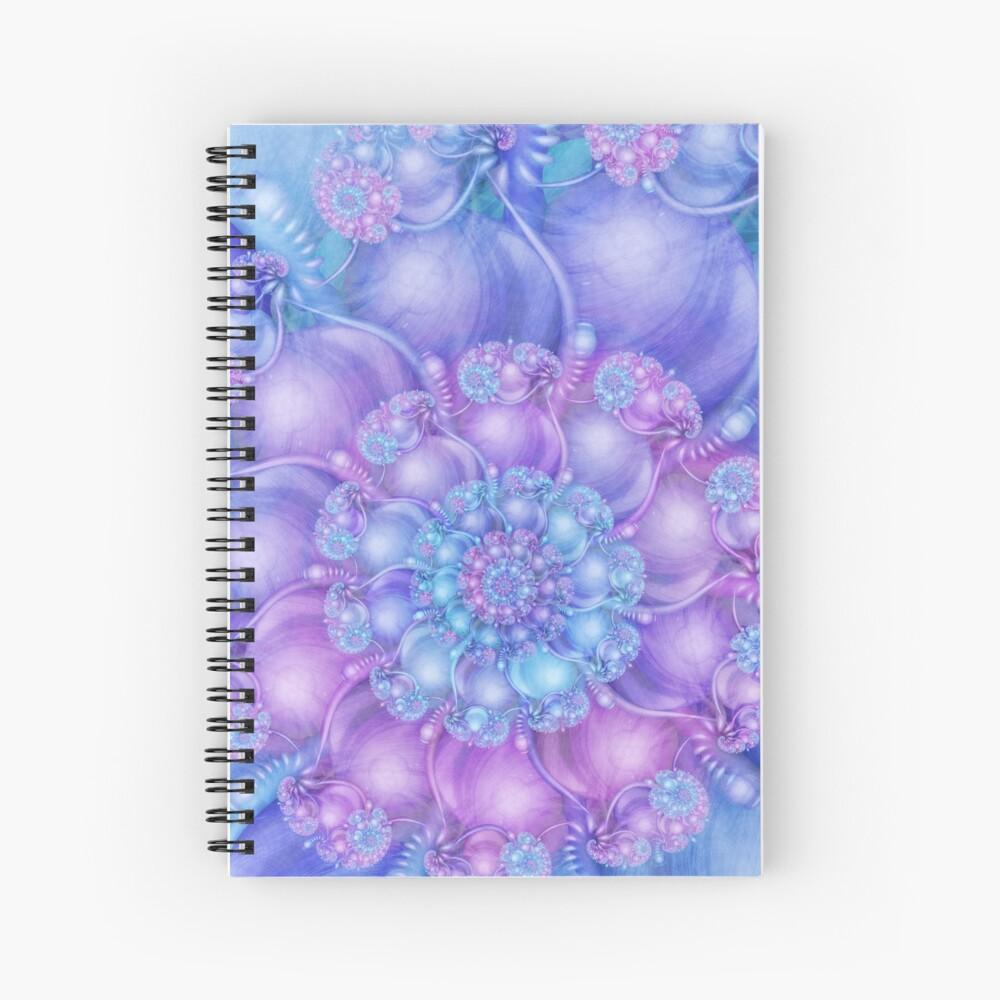 Cerulean Blue and Violet Purple Spiral Spiral Notebook
