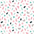 Konfetti-Muster in Blush und Minze von daisy-beatrice
