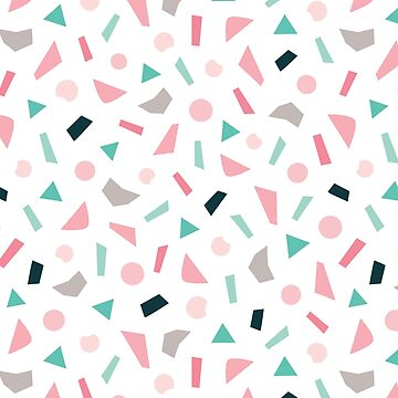 Confetti Pattern in Blush and Mint by daisy-beatrice