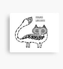 Animals of the North - Arctic Fox / Vulpes Lagopus Canvas Print