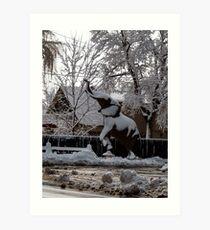 Snow Elephant Art Print