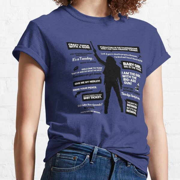 Wynonna Earp Quotes Silhouette Classic T-Shirt