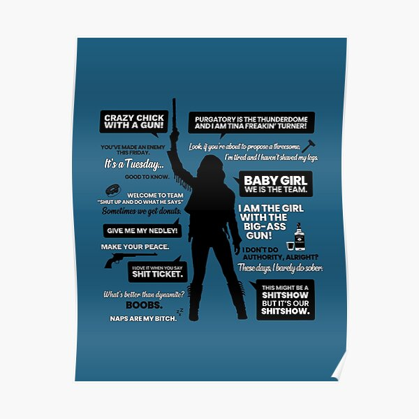 Wynonna Earp Quotes Silhouette Poster