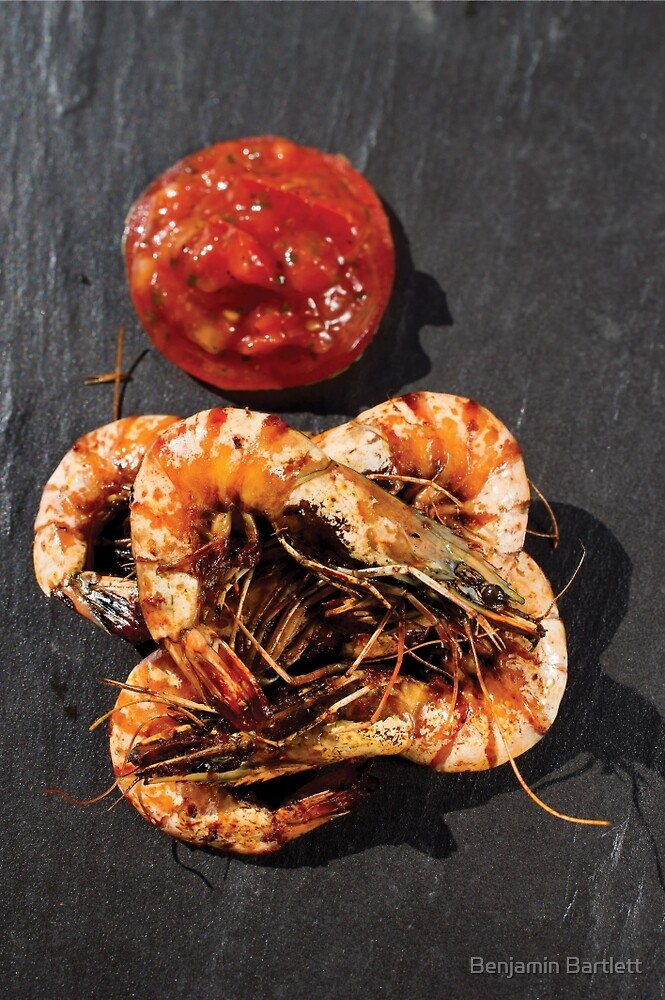 BBQ Grilled Prawns by Benjamin Bartlett
