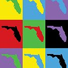 Florida Pop Art Colorful by ValeriesGallery
