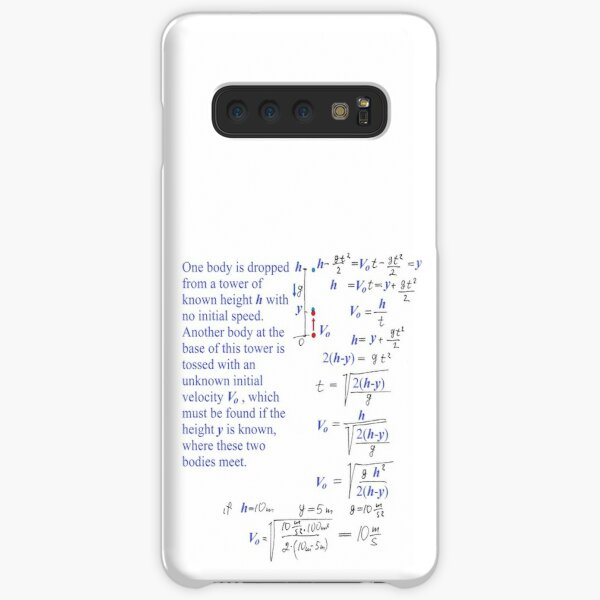 Mathematics, Physics Problem #Physics #Problem #PhysicsProblem One body is dropped from a tower of known height h with no initial speed Samsung Galaxy Snap Case