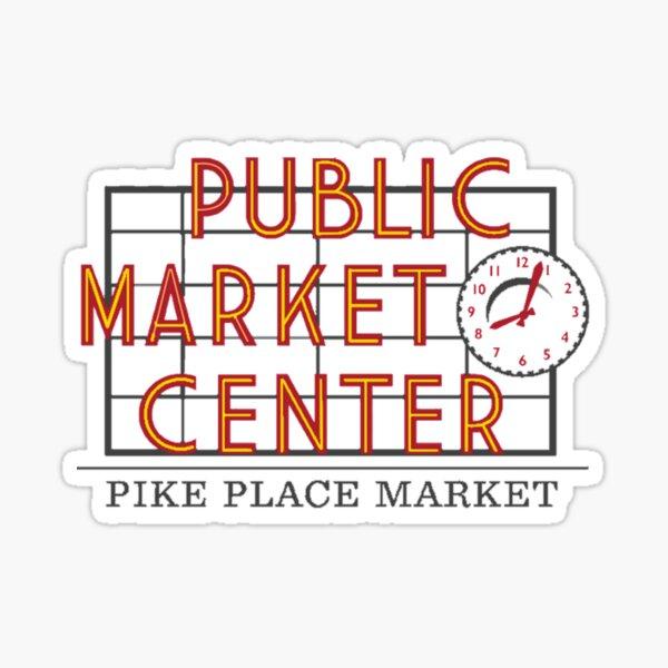 Public Market Center Pikes Place Market Sticker