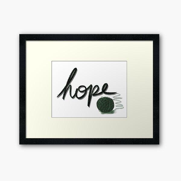 Hope in the Unraveled Framed Art Print