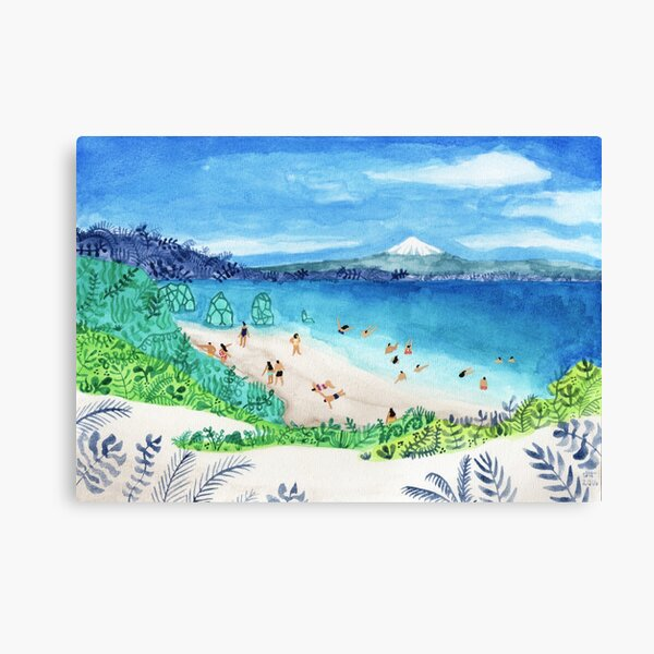 Mountain beach Canvas Print