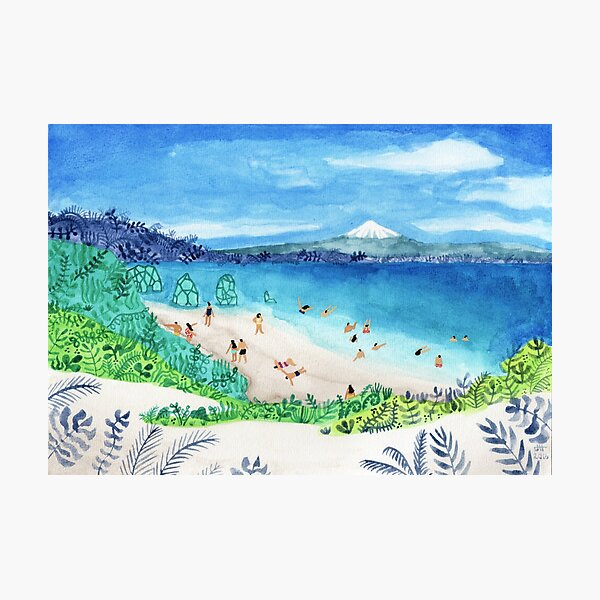 Mountain beach Photographic Print