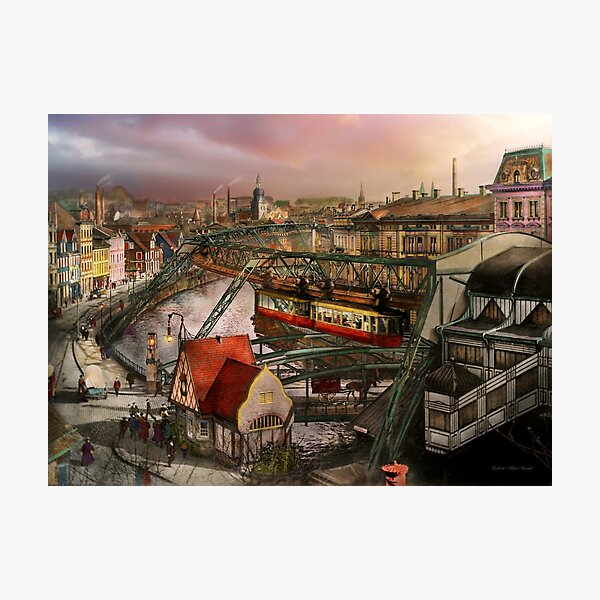 Train Station - Wuppertal Suspension Railway 1913 Photographic Print