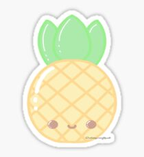 Kawaii Pineapple Stickers Redbubble