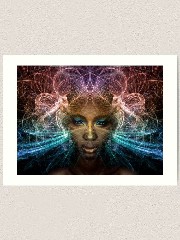 Alternate view of Isis goddess of rebirth and magic Art Print
