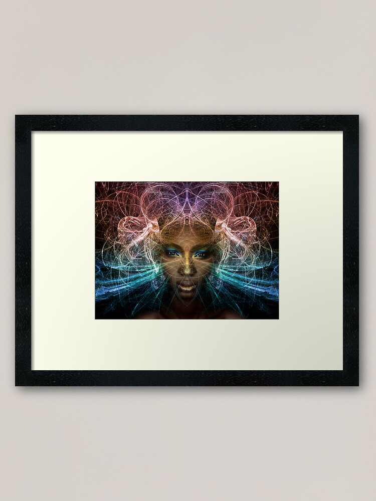Alternate view of Isis goddess of rebirth and magic Framed Art Print
