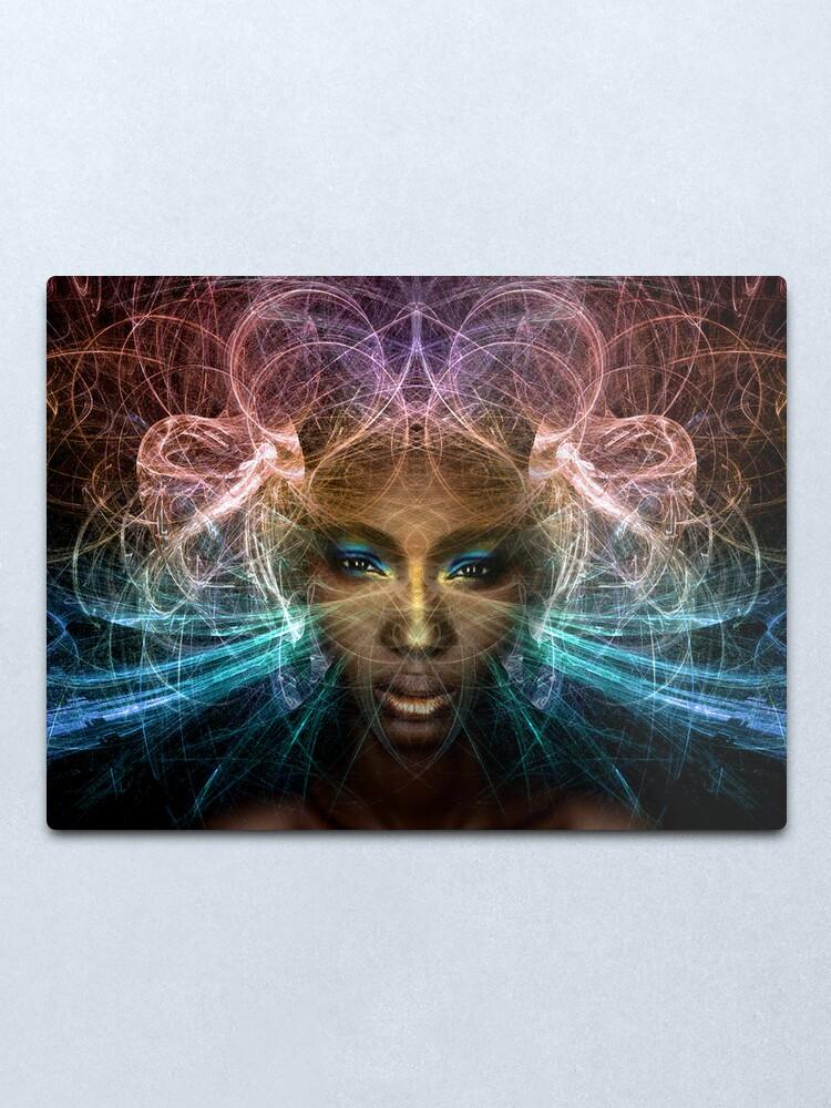 Alternate view of Isis goddess of rebirth and magic Metal Print