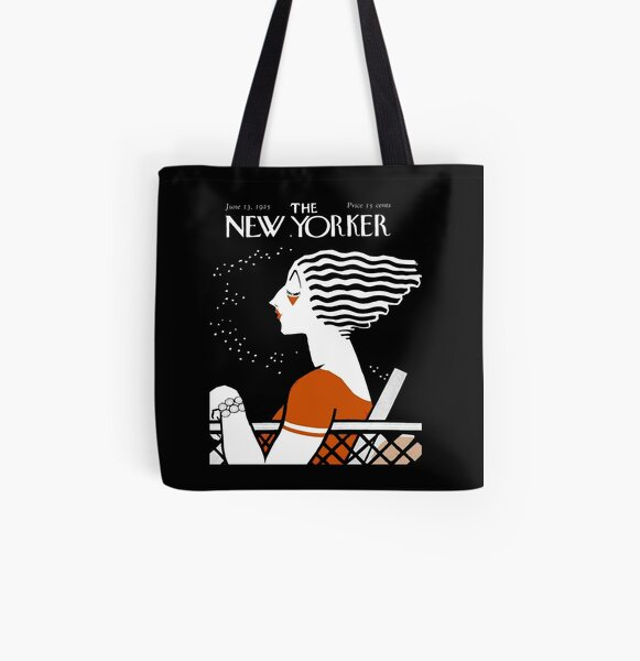 NEW YORKER : Vintage 1935 Magazine Cover Print All Over Print Tote Bag