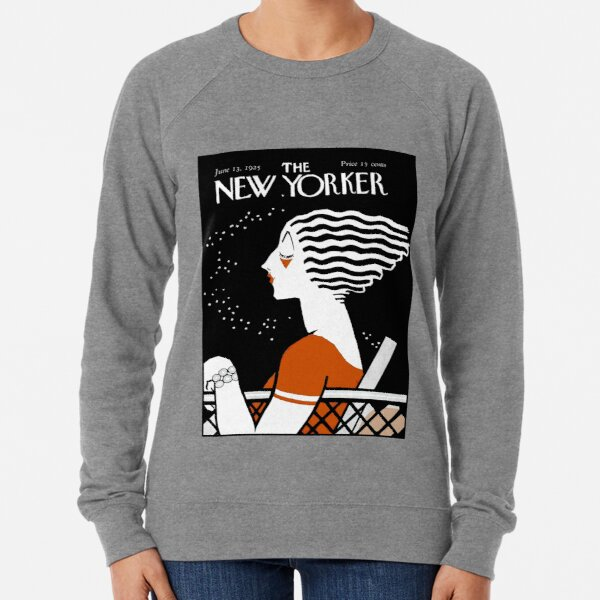 NEW YORKER : Vintage 1935 Magazine Cover Print Lightweight Sweatshirt