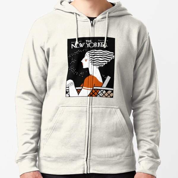 NEW YORKER : Vintage 1935 Magazine Cover Print Zipped Hoodie
