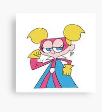 Super Diva Dynamite Flexing Canvas Print
