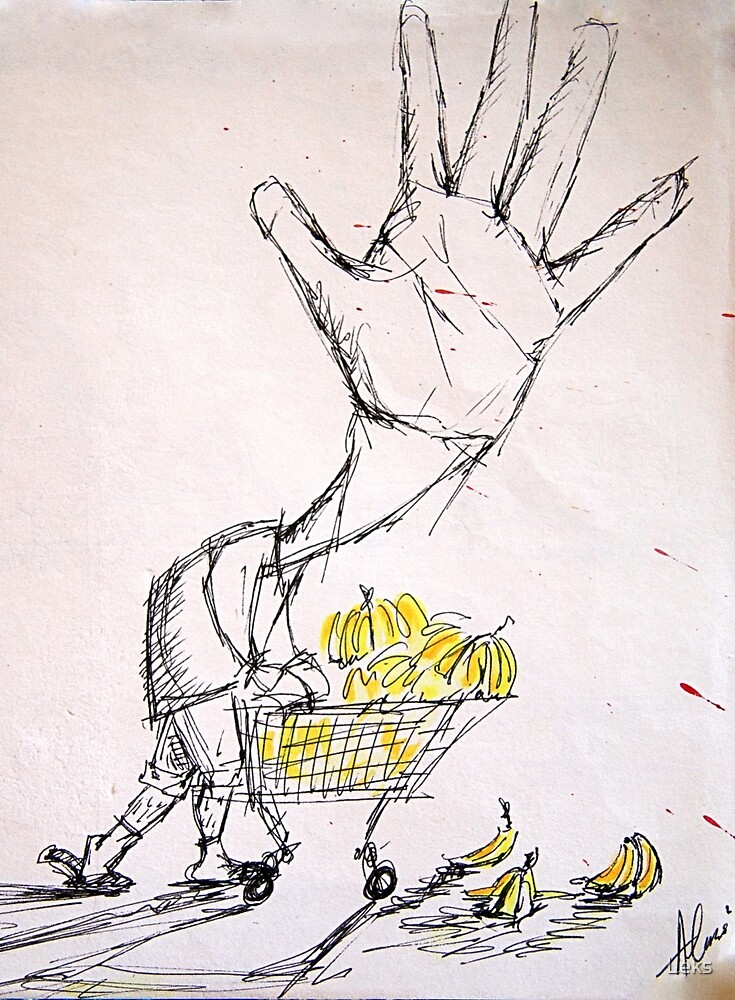 Banana Marketing Hand Head by Leks