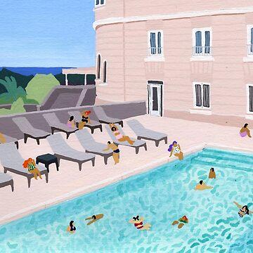 Piscine de l'hotel by HeloBirdie