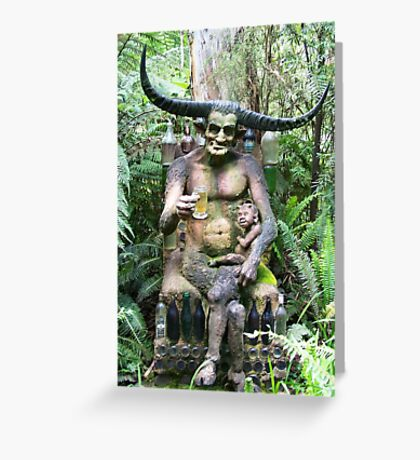 The horned man Greeting Card