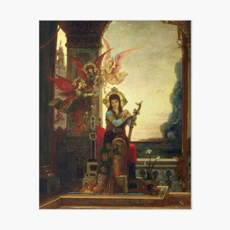 "Gustave Moreau ""Saint Cecilia and the Angels of Music"" Art Board Print"