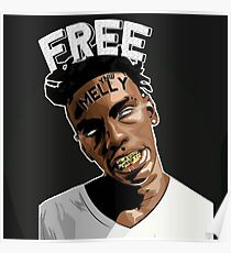 YNW Melly 'Free Melly' Poster