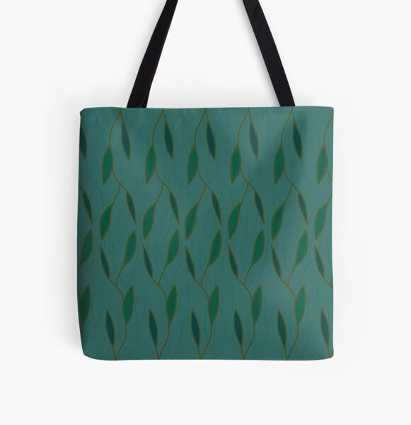 Green leaves All Over Print Tote Bag