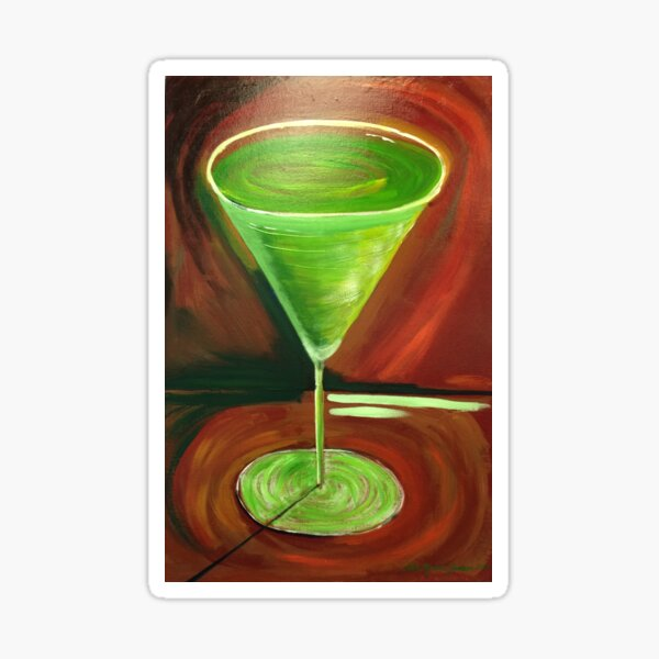 Martini Madness - Wheatgrass & Vodka Sticker