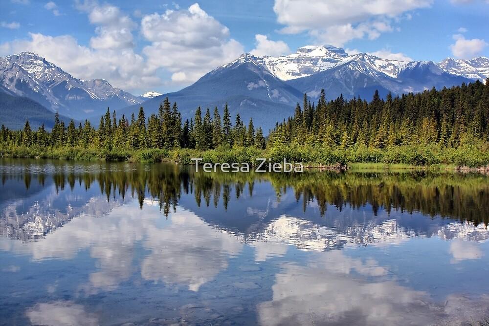 Vermillion Lakes (2) by Teresa Zieba
