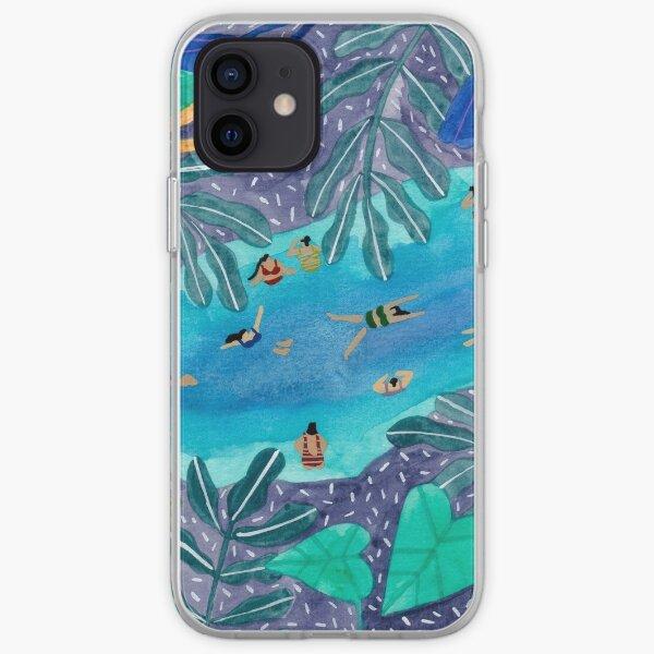 Midnight jungle pool iPhone Soft Case