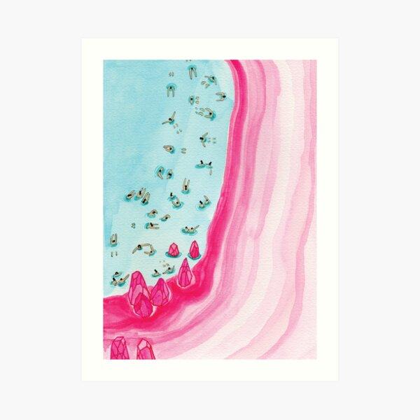 Pink beach Art Print