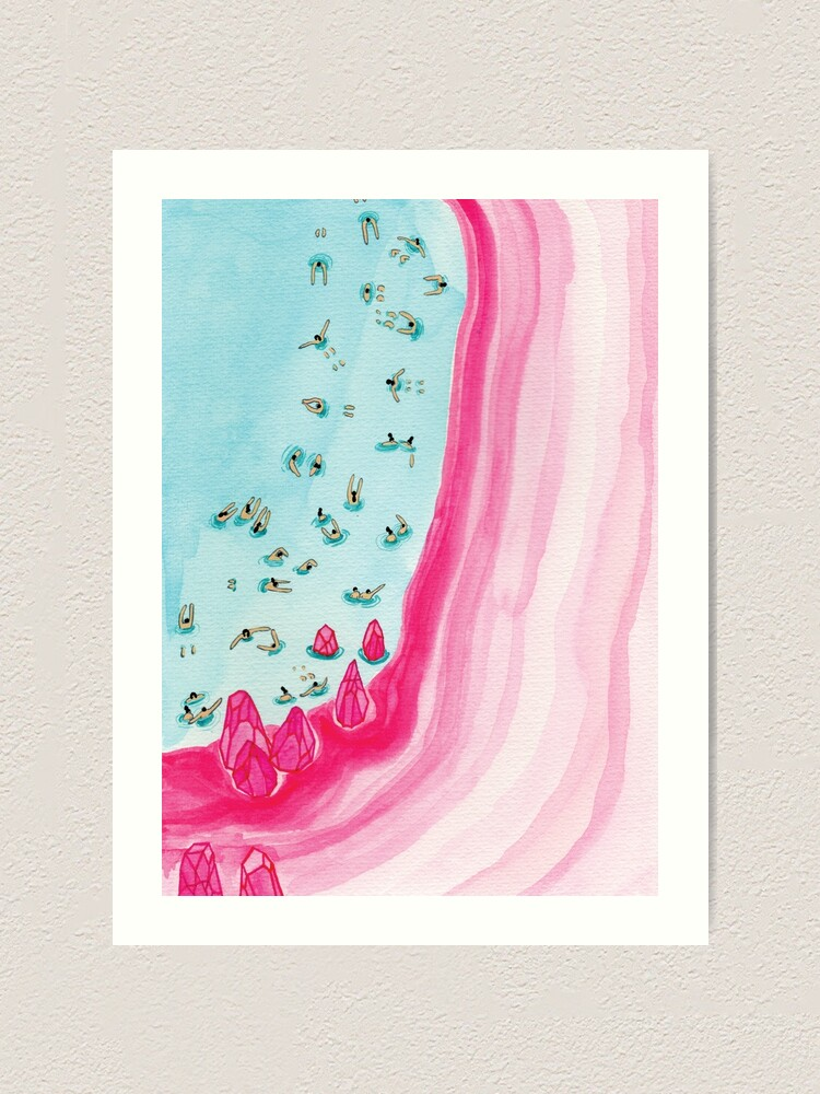 Alternate view of Pink beach Art Print