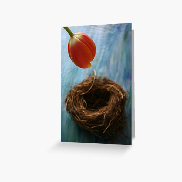 Tulip & nest Greeting Card