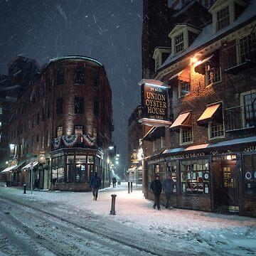 Snow in Boston by mattmacpherson