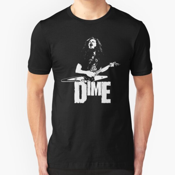 Dime - White Stencil Slim Fit T-Shirt