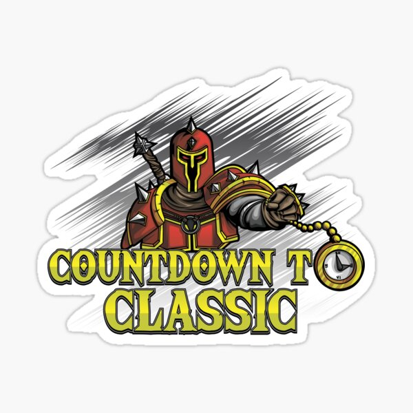 Countdown To Classic Merch Sticker