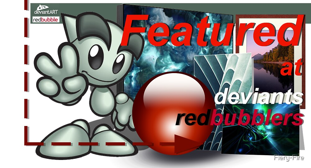 Deviants Redbubblers Featured banner by Fiery-Fire