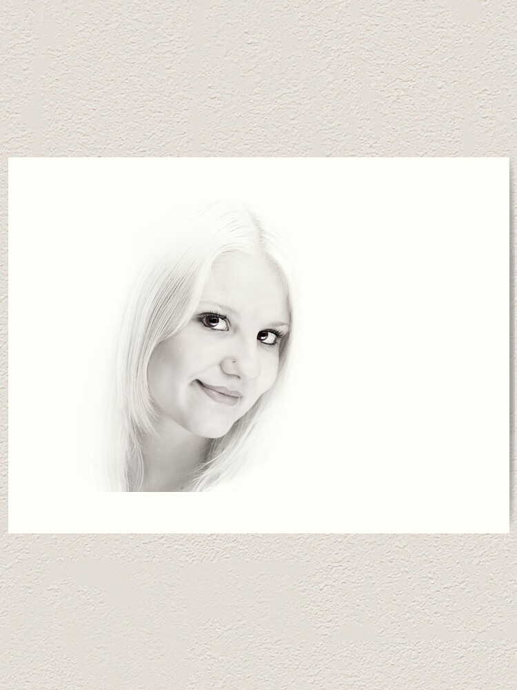 Alternate view of Caitlyn in High Key. Art Print